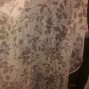 6 panels, sheer curtains, brown & floral